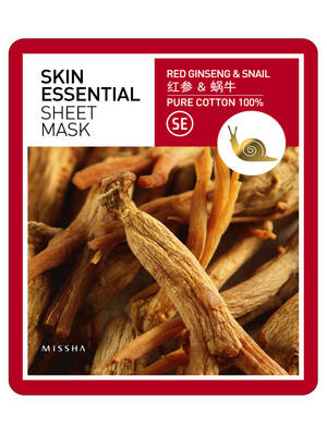 MISSHA_Skin_Essential_Sheet_Mask_Red_Ginseng_Snail