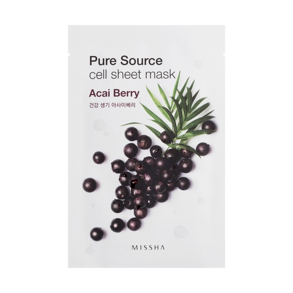 MISSHA Pure Source Cell Sheet Mask_Acai Berry
