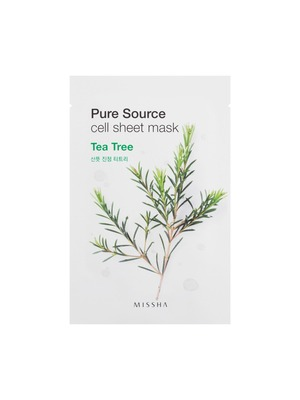 MISSHA Pure Source Cell Sheet Mask (Tea Tree) - Teebaum Gesichtsmaske