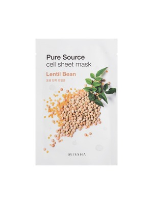 MISSHA Pure Source Cell Sheet Mask_Lentil Bean