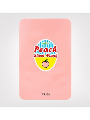 APIEU Peach & Yogurt Sheet Mask 1